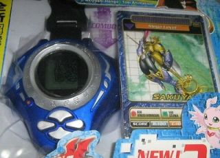 DIGIMON DIGIVICE BLUE SAKUAYAMON CARD NEW ENGLISH LANGUAGE ASIA