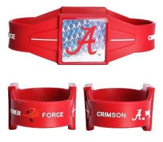 Alabama Crimson Tide Power Force Silicone Ion Wrist Band (NEW