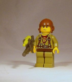 Lego Dino Minifig   Helicopter Pilot Minifigure w/ Tranquilizer Gun