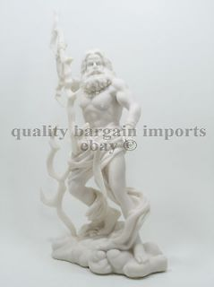 Greek God Zeus Statue Ruler of Mount Olympus Roman Jupiter Olympian