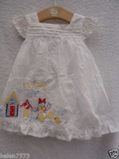 Disney Store white Daisy Duck 2pc dress & knicker set