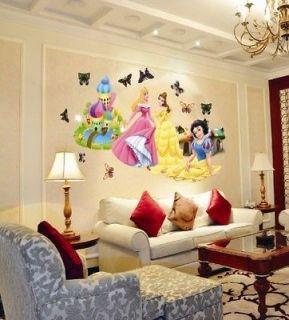 Large Disney Princess Baby Kids Wall Decor Nursery Decal Stickers