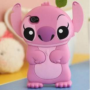 Disney Lilo Stitch Die Cut 3D Case Cover Skin House For iPhone 4 4G 4S