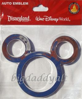 DISNEY MICKEY MOUSE EARS ICON CAR AUTO EMBLEM DECAL