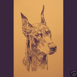 DOBERMAN PINSCHER DOG ART LITHOGRAPH #74 Kline Print Your dogs name