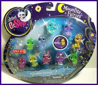 Littlest Pet Shop MOONLITE FAIRIES MOONDUST FRIENDS SET #2809 2818 Spa