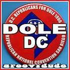 1996 DOLE Washington D.C. Convention DELEGATION Campaign Button Pin