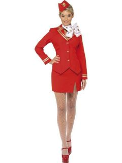 Virgin Trolley Dolly/Air Hostess Fancy Dress Costume