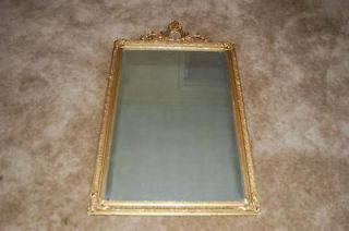 Antique VICTORIAN Mirror Gold Gilt Wood Gesso ~Shabby Chic~ French