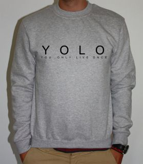 YOLO YOU ONLY LIVE ONCE DRAKE LIL WAYNE SWEATER SWEATSHIRT OVOXO YOUNG