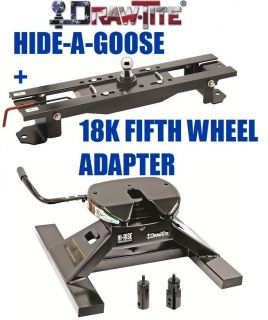 DRAWTITE UNDRBED GOOSENECK TRAILER HITCH & 18K FIFTH 5TH WHEEL ADAPTER