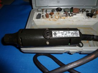 Dremel Moto Tool Kit + Routing Attachment + Universal Stand   Vintage