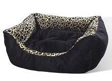 Leopard Print Pet Cat or Dog Bed Kitty Cats for Small Pets 15 25 lbs