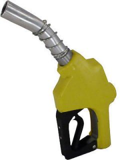 Yellow Stainless Steel Automatic Fuel Nozzle Gas Diesel Biodiesel