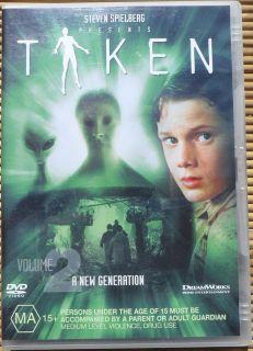 DVD. Taken Vol 2 A New Generation. Stephen Spielberg. Region 2 & 4.