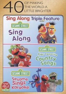 Country Songs Sesame Sings Karaoke DVD, 2010, 3 Disc Set