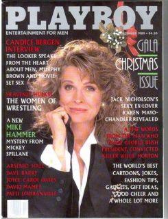 Playboy december 1989,Candice Bergen, Petra Verkaik Karen Mayo