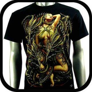 RC Survivor T Shirt Biker Punk Tattoo C95 Sz L Indie Rock Graffiti