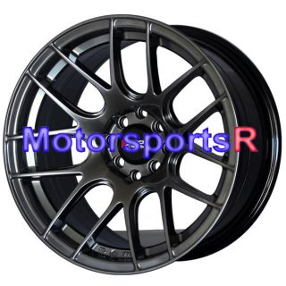 16 x 8 XXR 530 Chromium Black Concave Rims Wheels Stance 01 Acura