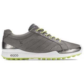 Ecco Mens Biom Hybrid Golf Shoes 131504 57870 Grey/Lime Yak Leather 10