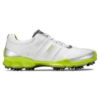 Ecco Mens Biom Hydromax Golf Shoes White/Lime 45 11 11.5 Fred Couples