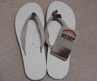 Hemp Rainbow Surfer Eco Sandals Womens XL 8.5 9.5 Natural Flip flops
