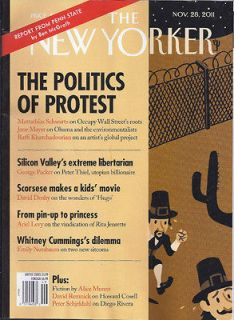 THE NEW YORKER MAGAZINE POLITICS OF PROTEST PETER THIEL HUGO RITA
