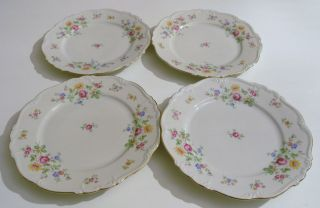 Edelstein Bavaria Queens Rose Pattern 17919 8 Plates SET OF 4