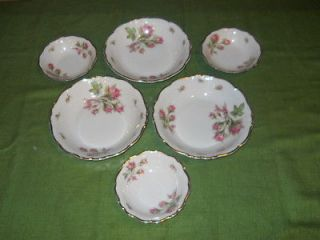 Edelstein Bavaria Maria Theresia Germany China Soup/Berry Bowls Moss