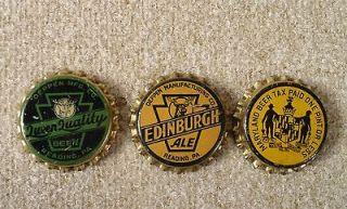 Newly listed 3 VINTAGE DEPPEN EDINBURGH MARYLAND BEER BOTTLE CAPS
