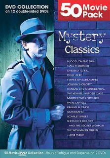 Mystery Classics 50 Movie Pack DVD, 2004, 12 Disc Set