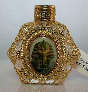 Glass Handmade Oil Perfume Holy Water Bottle 462213. egyptian theme