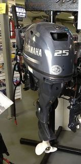 Stroke 25 Horsepower Long Shaft Electric Start Outboard Boat Motor