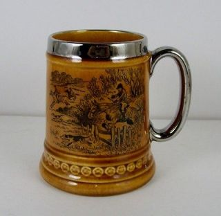 Vintage Hunt Scene Stein Elijah Cotton Ltd Lord Nelson Ware