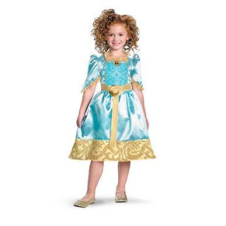 Girls Brave Merida Classic Disney Cartoon Costume