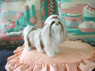 SHIH TZU DOG lifelike FURRY ANIMAL Toy REPLICA d454c  USA
