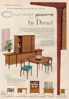 1956 Drexel Furniture North Carolina NC Dining Room Ad