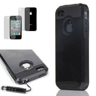 rugged rubber matte hard case cover for iphone 4 in Cases, Covers