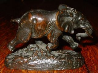Antique Miniature bronze Elephant Bayre Barbedienne   ​14437