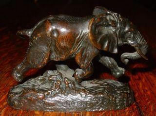 Antique Miniature bronze Elephant Bayre Barbedienne   14437