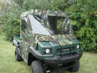 FULL CAB Enclosure w/ Clear Lexan Windshield ~ Kawasaki MULE 3000 3010