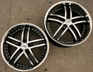 NICHE ESSENCE 877 20 BLACK RIMS WHEELS NISSAN 350Z STAGGERED / 20 X 8