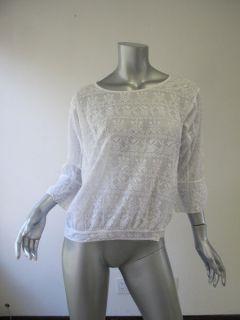 Etoile Isabel Marant White Sheer Embroidered Blouse 1