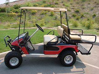 Ez go TXT Golf Cart Diamond Plate Full Side Panels