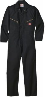 dickies mens black long sleeve twill work coveralls medium large xl