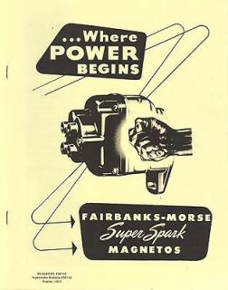 Fairbanks Mors​e Super Spark Magneto Catalog 1952 F M