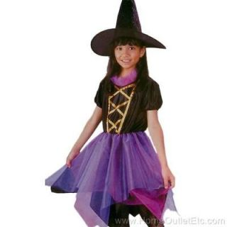 NEW Girls 2pc WITCH OF FAIRLAND Dress+Hat Fairy Tale Kids Halloween