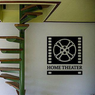 MOVIE HOME THEATER SIGN   Vinyl Wall Art Decals Sticker