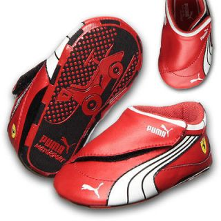 Puma Ferrari Drift Cat 4 L SF Crib Baby Trainers Rosso Corsa/White/Bl