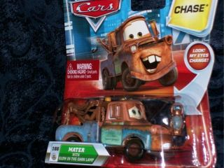 Disney Cars MATER W GLOW IN THE DARK LAMP PACKAGE LOOSE